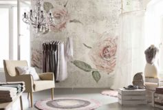 Ofera un plus de eleganta living-ului cu un tapet floral de la deco-perete.ro!