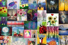 Creeaza o atmosfera de poveste cu tablourile pictate de tine!